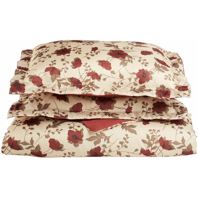 Impressions Reversible Duvet Cover Set Size: King/California King, Color: Burgundy