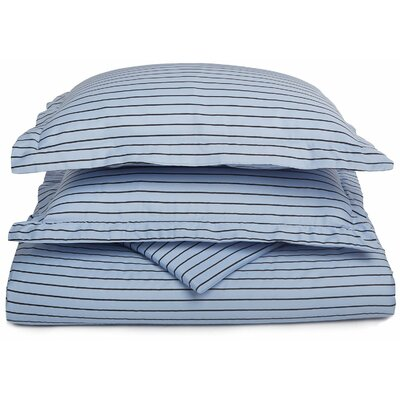 Bahama Reversible Duvet Cover Set Size: Full / Queen, Color: Blue / Black