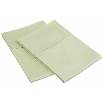 450 Thread Count Solid Pillowcase Color: Sage, Size: Standard