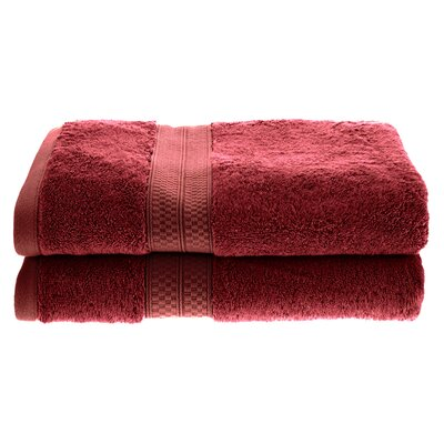 Superior Rayon Soft and Absorbent Bath Towel Color: Crimson