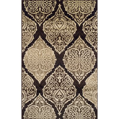 Sheila Rectangle Brown/Beige Area Rug Rug Size: 710 x 910