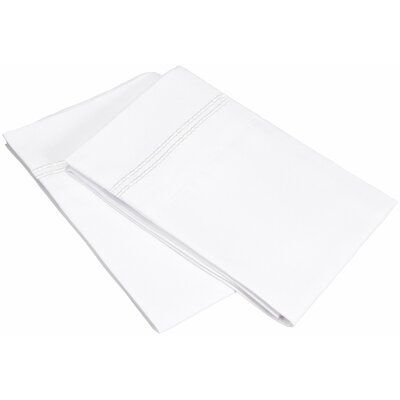 Garrick Pillowcase Size: Standard, Color: White