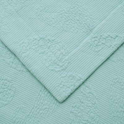 Garris Paisley Jacquard Matelasse Bedspread Size: Twin, Color: Aqua