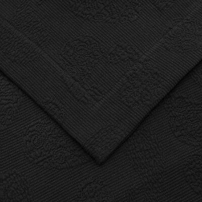 Garris Paisley Jacquard Matelasse Bedspread Size: Queen, Color: Black