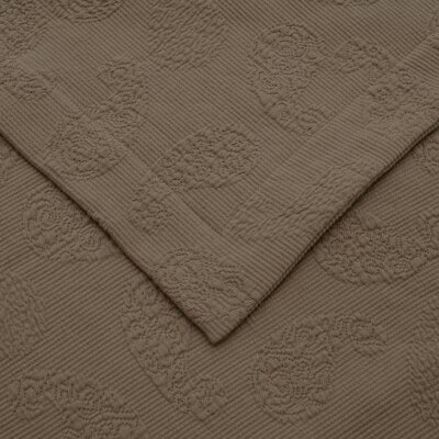 Garris Paisley Jacquard Matelasse Bedspread Size: King, Color: Taupe