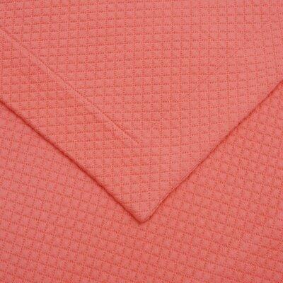 Garris Diamond Solitaire Matelasse Bedspread Size: Queen, Color: Coral