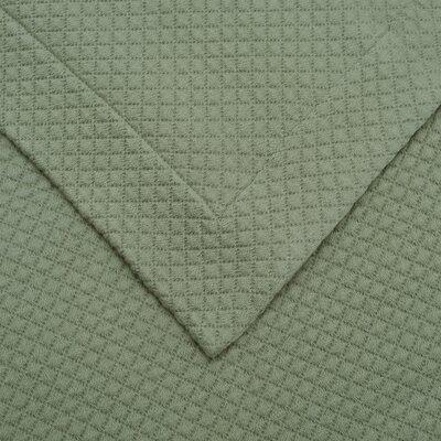 Garris Diamond Solitaire Matelasse Bedspread Size: Twin, Color: Sage