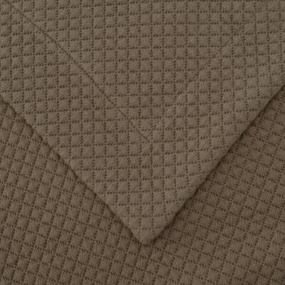 Garris Diamond Solitaire Matelasse Bedspread Size: Twin, Color: Taupe