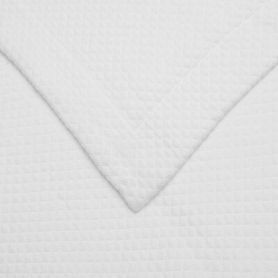 Garris Diamond Solitaire Matelasse Bedspread Size: King, Color: White