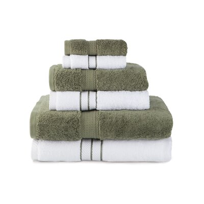 Patric Absorbent 6 Piece Towel Set Color: Forest Green