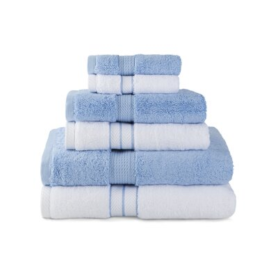 Patric Absorbent 6 Piece Towel Set Color: Light Blue