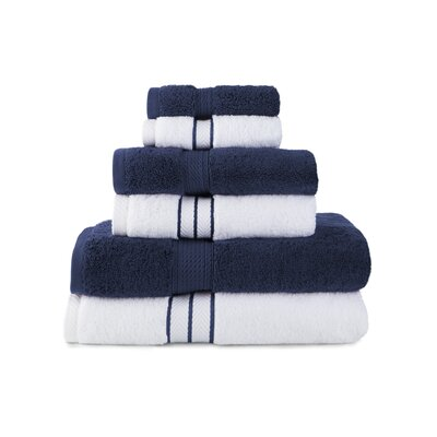 Patric Absorbent 6 Piece Towel Set Color: Navy Blue