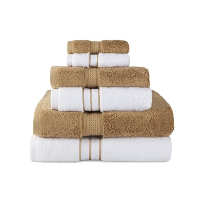 Patric Absorbent 6 Piece Towel Set Color: Toast