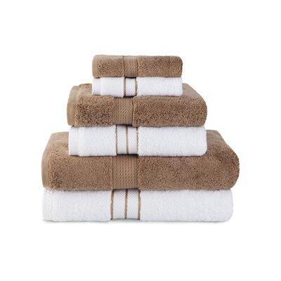 Superior 900 GSM 6 Piece Towel Set Color: Latte