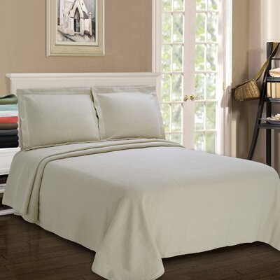 Garris Diamond Solitaire Matelasse Bedspread Size: Queen, Color: Ivory
