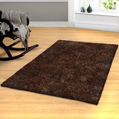 Catharine Hand-Woven Cocoa Area Rug Rug Size: 5 x 8