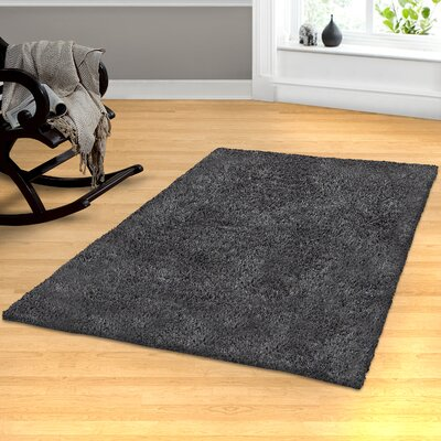 Catharine Hand-Woven Gray Area Rug Rug Size: 4 x 6