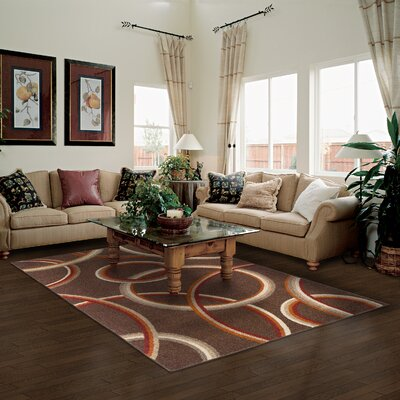 Meridian Brown Area Rug Rug Size: 8 x 10