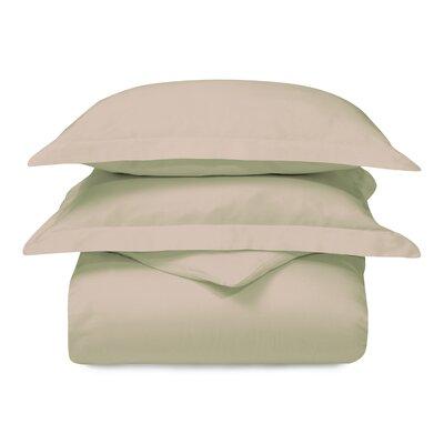 Cotton 3 Piece Duvet Set Size: Full/Queen, Color: Tan
