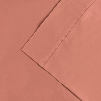 Larksville 300 Thread Count Cotton Solid Pillowcase Color: Coral, Size: Standard