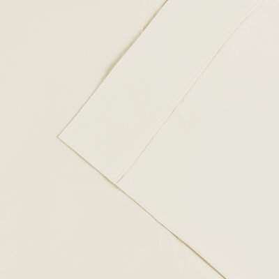 Cullen 300 Thread Count Cotton Solid Pillowcase Color: Ivory, Size: Standard