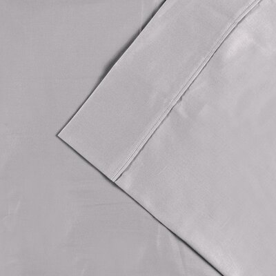 Cullen 300 Thread Count Cotton Solid Pillowcase Color: Light Gray, Size: King
