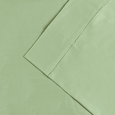 Cullen 300 Thread Count Cotton Solid Pillowcase Size: King, Color: Mint