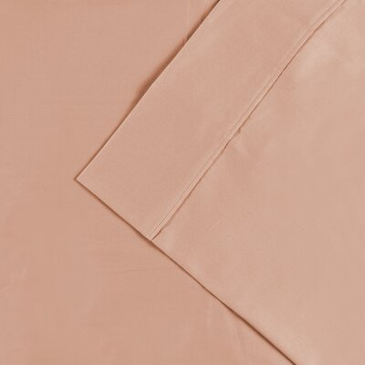 Cullen 300 Thread Count Cotton Solid Pillowcase Color: Peach, Size: King