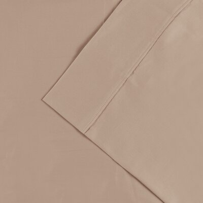 Cullen 300 Thread Count Cotton Solid Pillowcase Size: King, Color: Tan