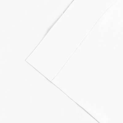 Cullen 300 Thread Count Cotton Solid Pillowcase Color: White, Size: King