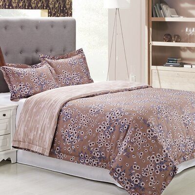 Hillcrest 3 Piece Reversible Duvet Cover Set Size: Full/Queen