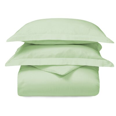 Cotton 3 Piece Duvet Set Color: Mint, Size: Twin