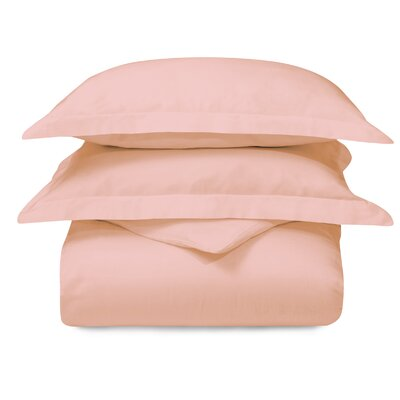 Cotton 3 Piece Duvet Set Color: Peach, Size: King/California King