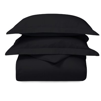 Cotton 3 Piece Duvet Set Color: Black, Size: King/California King