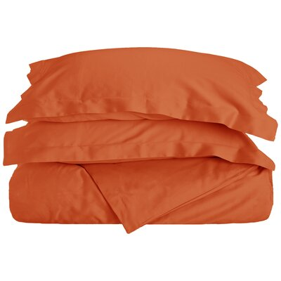 Reversible Duvet Cover Set Size: Twin, Color: Pumpkin