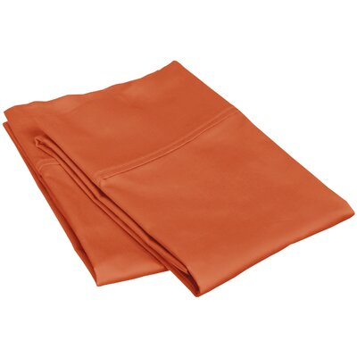 Reece 300 Thread Count  Pillowcase Set Size: Standard, Color: Pumpkin