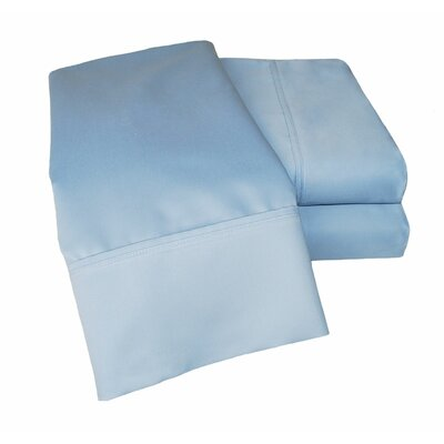 Uinta 1000 Thread Count Wrinkle Resistant Cotton Blend Sheet Set Color: Light Blue, Size: California King