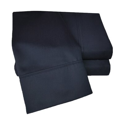 Uinta 1000 Thread Count Wrinkle Resistant Cotton Blend Sheet Set Color: Navy Blue, Size: Split King