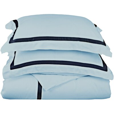 Hotel Reversible Duvet Cover Set Size: Full / Queen, Color: Baby Blue
