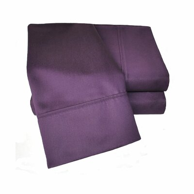 Uinta 1000 Thread Count Wrinkle Resistant Cotton Blend Sheet Set Color: Plum, Size: Split King