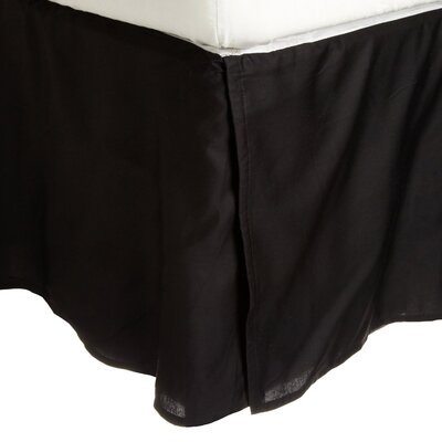 Superior Long Staple Cotton 300 Thread Count Bed Skirt Color: Black, Size: Queen