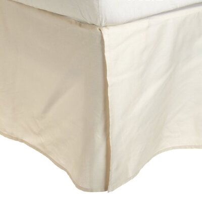 Superior Long Staple Cotton 300 Thread Count Bed Skirt Color: Ivory, Size: Queen