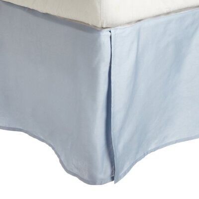 Superior Long Staple Cotton 300 Thread Count Bed Skirt Color: Light Blue, Size: Queen