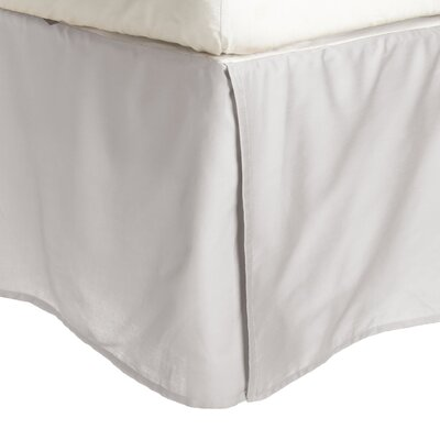 Superior Long Staple Cotton 300 Thread Count Bed Skirt Color: Light Gray, Size: Queen