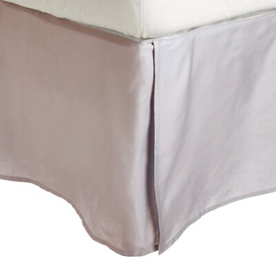 Superior Long Staple Cotton 300 Thread Count Bed Skirt Color: Lilac, Size: Queen