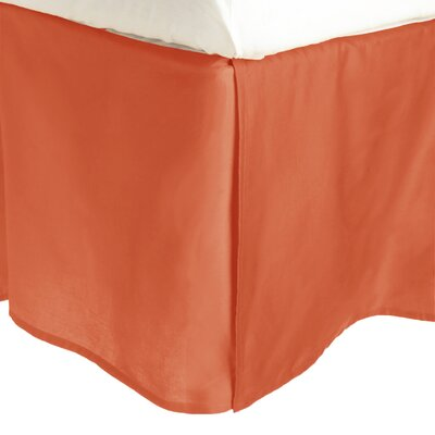 Superior Long Staple Cotton 300 Thread Count Bed Skirt Color: Pumpkin, Size: Twin