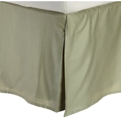 Superior Long Staple Cotton 300 Thread Count Bed Skirt Color: Sage, Size: Queen