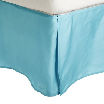 Superior Long Staple Cotton 300 Thread Count Bed Skirt Color: Teal, Size: Twin