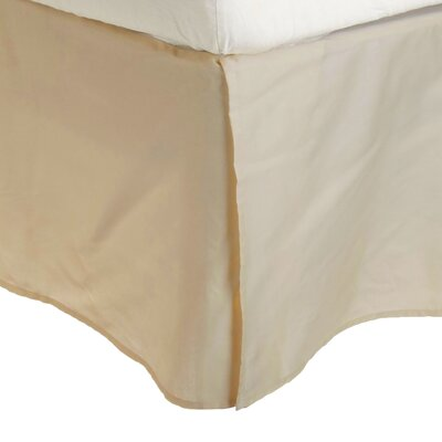 Superior Long Staple Cotton 300 Thread Count Bed Skirt Color: Tan, Size: Queen