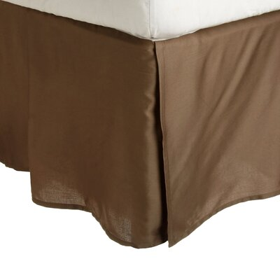 Superior Long Staple Cotton 300 Thread Count Bed Skirt Color: Taupe, Size: Queen
